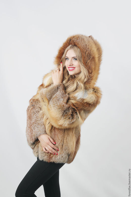 Верхняя одежда ручной работы. Ярмарка Мастеров - ручная работа. Купить Меховая куртка из лисы классика. Handmade. Рыжий