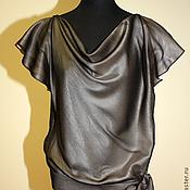 Одежда handmade. Livemaster - original item Silk blouse with cascade. Handmade.