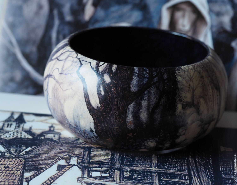 Браслет с росписью Туман в зачарованном лесу, Браслет из бусин, Химки,  Фото №1