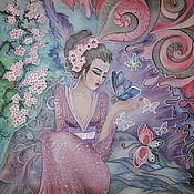 Картины ручной работы. Ярмарка Мастеров - ручная работа Картины: Гейша Джиао. Handmade.