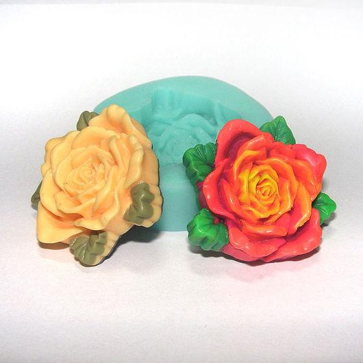 """Для украшений ручной работы. Ярмарка Мастеров - ручная работа. Купить Форма, молд """"Роза с листочками"""" (арт.: 28). Handmade."""