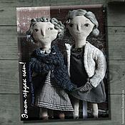 """Куклы и игрушки ручной работы. Ярмарка Мастеров - ручная работа """"Этот чердак наш!"""". Примитивные куклы неразлучники. Handmade."""