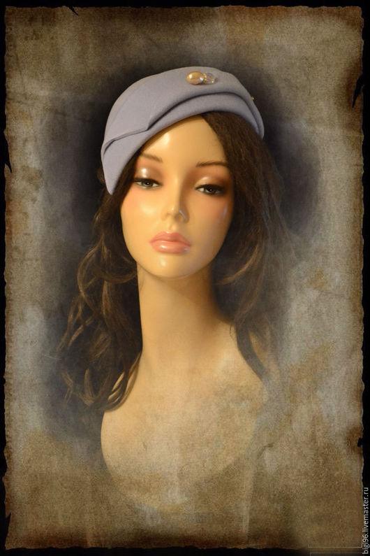 """Шляпы ручной работы. Ярмарка Мастеров - ручная работа. Купить Парижанка """" Голубая"""". Handmade. Васильковый, маленькая шляпка"""