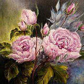 """Картины и панно ручной работы. Ярмарка Мастеров - ручная работа """" Розы """" (свободная копия). Handmade."""
