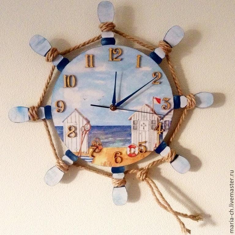 настенные часы морская тематика