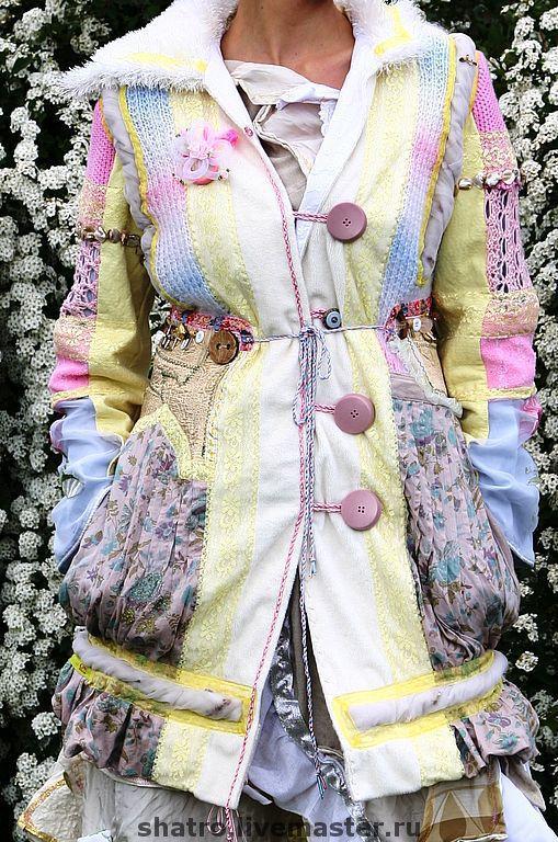 Верхняя одежда ручной работы. Ярмарка Мастеров - ручная работа. Купить пальто ВЕСЕННЕЕ. Handmade. Абстрактный, пальто вязаное