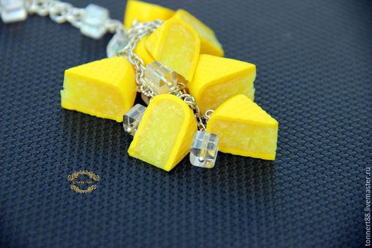 """Браслеты ручной работы. Ярмарка Мастеров - ручная работа. Купить Браслет """"Сheese"""". Handmade. Желтый, сыр, купить подарок подруге"""