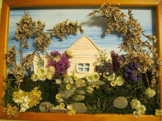 Интерьерные композиции ручной работы. Ярмарка Мастеров - ручная работа. Купить Картины из сухоцветов и соленого теста. Handmade. Соленое тесто