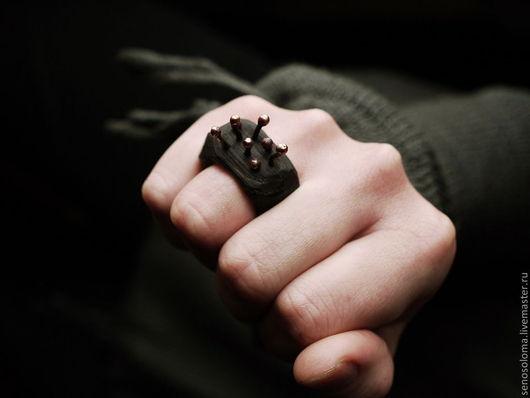 """Кольца ручной работы. Ярмарка Мастеров - ручная работа. Купить Кольцо """"Рождение Хатифнаттов"""". Handmade. Темно-серый, дерево"""