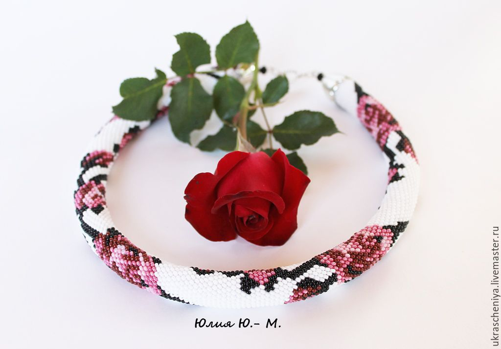 Harness beaded Roses, decoration, necklace, Necklace, Ryazan,  Фото №1
