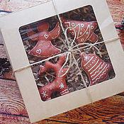 Подарки к праздникам ручной работы. Ярмарка Мастеров - ручная работа Набор ароматизированных елочных игрушек. Handmade.