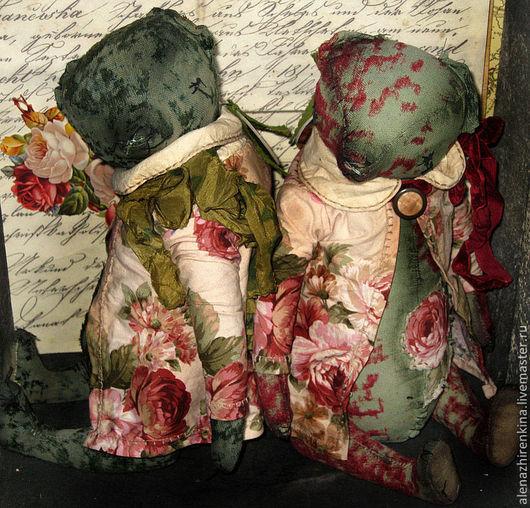 Мишки Тедди ручной работы. Ярмарка Мастеров - ручная работа. Купить ...А роза упала на лапу АзорА.... Handmade. Бордовый