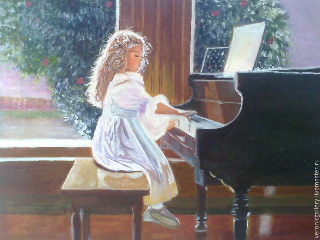 Девушка за роялем в картинках