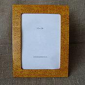 Сувениры и подарки handmade. Livemaster - original item Photo frame made of Karelian birch 13х18. Handmade.