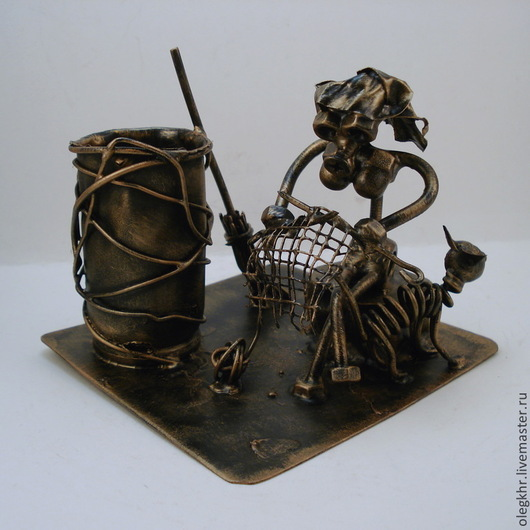 Миниатюрные модели ручной работы. Ярмарка Мастеров - ручная работа. Купить Бабка-Ежка. Handmade. Скульптурная миниатюра, бабка-ежка