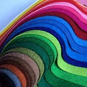 Материалы для творчества ручной работы. Ярмарка Мастеров - ручная работа Набор мягкого Фетра 25 цветов (Испания). Handmade.