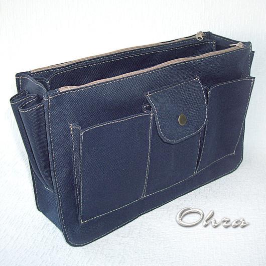 Органайзеры для сумок ручной работы. Ярмарка Мастеров - ручная работа. Купить Органайзер для сумки 6 текстильный синий. Handmade.