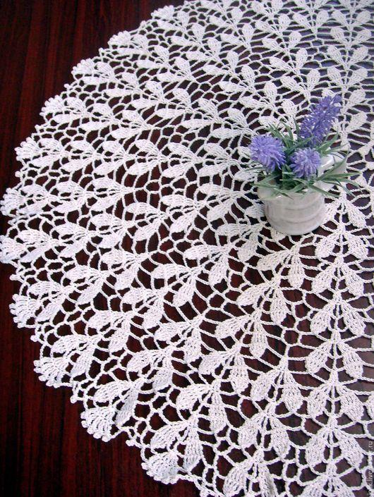 Текстиль, ковры ручной работы. Ярмарка Мастеров - ручная работа. Купить Салфетка вязаная крючком Нежность. Handmade. Кремовый, винтаж