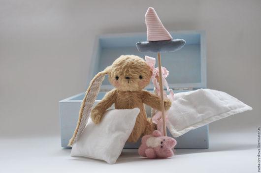 Мишки Тедди ручной работы. Ярмарка Мастеров - ручная работа. Купить Зайка-смелая малышка. Handmade. Голубой, тедди игрушка