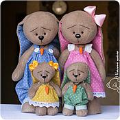 Куклы и игрушки ручной работы. Ярмарка Мастеров - ручная работа Семейство в горошек. Handmade.