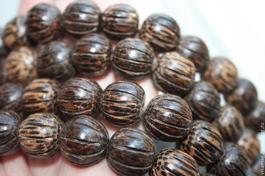 Для украшений ручной работы. Ярмарка Мастеров - ручная работа. Купить Деревянные бусины пальмового дерева Сквош, 15 мм. Handmade.