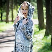 Одежда ручной работы. Ярмарка Мастеров - ручная работа Шерстяной свитер- пальто. Handmade.