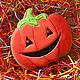 """Подарки на Хэллоуин ручной работы. Заказать Пряник """"Тыква на хеллоуин"""". A&E Красивые сладости.. Ярмарка Мастеров. Хеллоуин, урожай"""