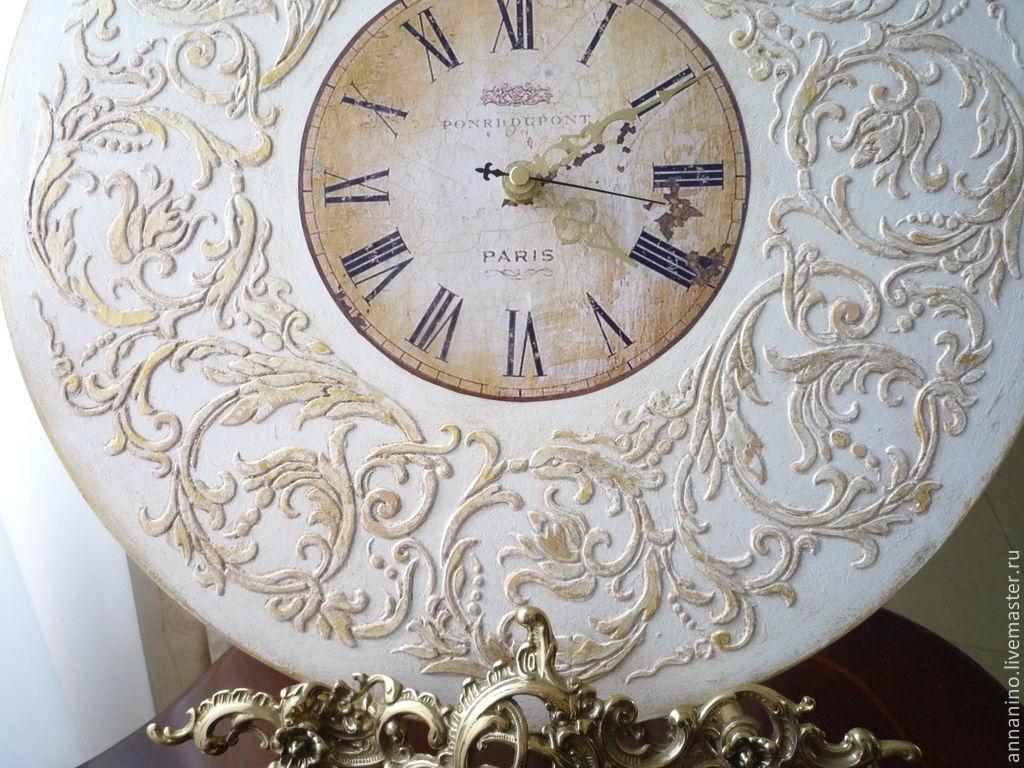 cf29a764e155 Ярмарка Мастеров - ручная работа. Купить Настенные часы Вальс Часы для дома  ручной работы. Настенные часы Вальс Шебби шик в белом.
