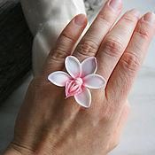 Украшения handmade. Livemaster - original item White orchid ring, polymer clay. Handmade.