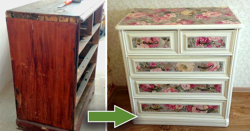 декупаж старого шкафа фото до и после это время