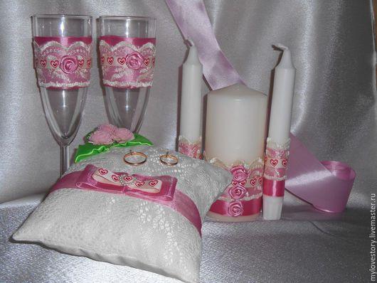 Свадебные аксессуары ручной работы. Ярмарка Мастеров - ручная работа. Купить Романтика. Handmade. Розовый, цветы, кружево