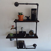 Полки ручной работы. Ярмарка Мастеров - ручная работа Полка из водопроводной трубы в стиле Loft. Handmade.