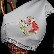 Подарки к праздникам handmade. Livemaster - original item Linen napkin