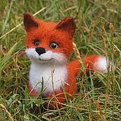 handmade. Livemaster - original item Fox Felix. Interior toy is made of wool. Handmade.