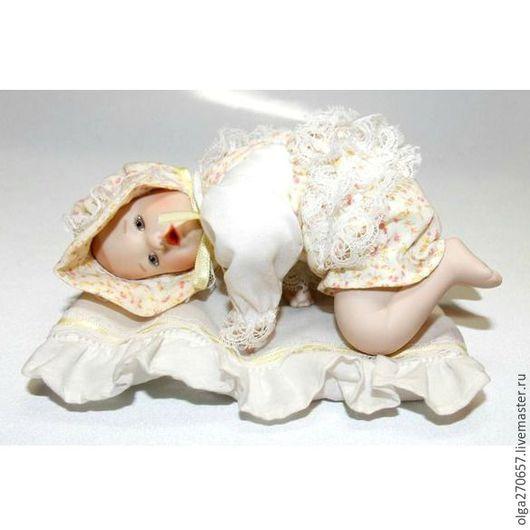 Винтажные куклы и игрушки. Ярмарка Мастеров - ручная работа. Купить Лиза от Иоланда Белло. Handmade. Бежевый, фарфор