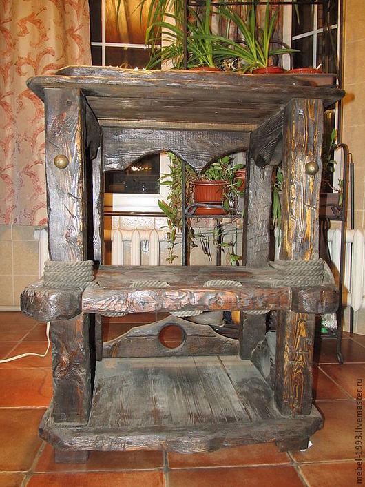 Мебель ручной работы. Ярмарка Мастеров - ручная работа. Купить Тумба ВЕРОНА. Handmade. Коричневый, тумбочка, брашировка, ручной работы