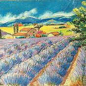 Картины и панно handmade. Livemaster - original item Painting Field of lavender. Handmade.