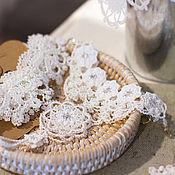 Свадебный салон ручной работы. Ярмарка Мастеров - ручная работа Свадебные кружевные браслеты «Крылья ангела», фриволите. Handmade.