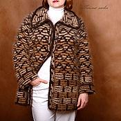 """Одежда ручной работы. Ярмарка Мастеров - ручная работа жакет из собачьей шерсти """"Тёплый шоколад"""". Handmade."""