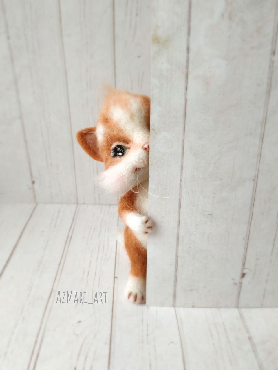 Рыжий котенок, Войлочная игрушка, Киров,  Фото №1