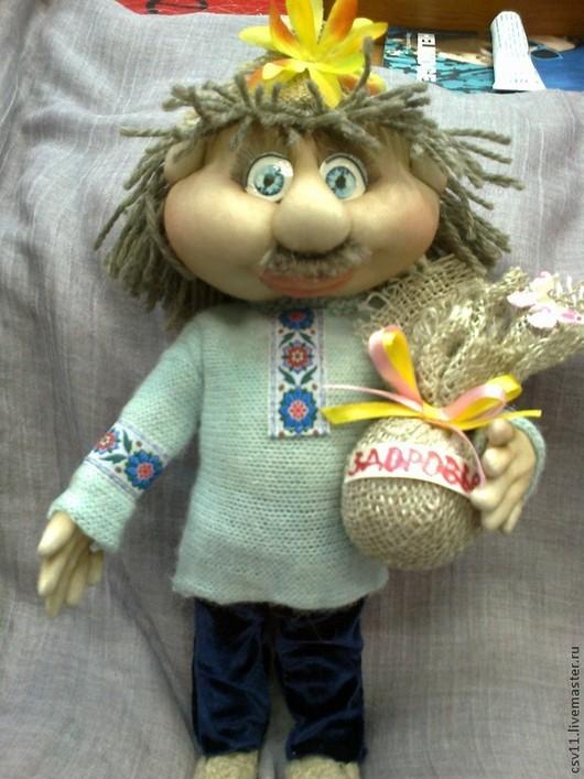 Коллекционные куклы ручной работы. Ярмарка Мастеров - ручная работа. Купить Домовенок - текстильная кукла. Handmade. Разноцветный, оберег в подарок
