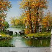 """Картины и панно ручной работы. Ярмарка Мастеров - ручная работа картина """"Золотая осень"""". Handmade."""