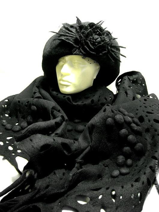 """Шали, палантины ручной работы. Ярмарка Мастеров - ручная работа. Купить шарф """"ПАРИЖСКИЕ ТАЙНЫ"""". Handmade. Черный, бохо стиль"""