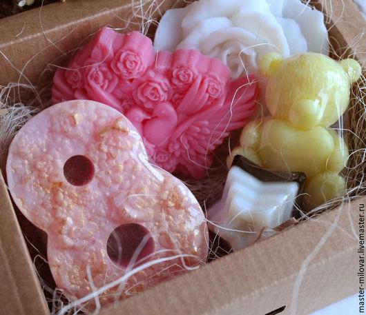 Мыло ручной работы. Ярмарка Мастеров - ручная работа. Купить Подарочный набор мыла ручной работы 8 Марта. Handmade.