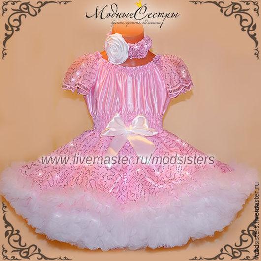 """Одежда для девочек, ручной работы. Ярмарка Мастеров - ручная работа. Купить Платье """"Королева"""" Арт.308. Handmade. Бледно-розовый"""