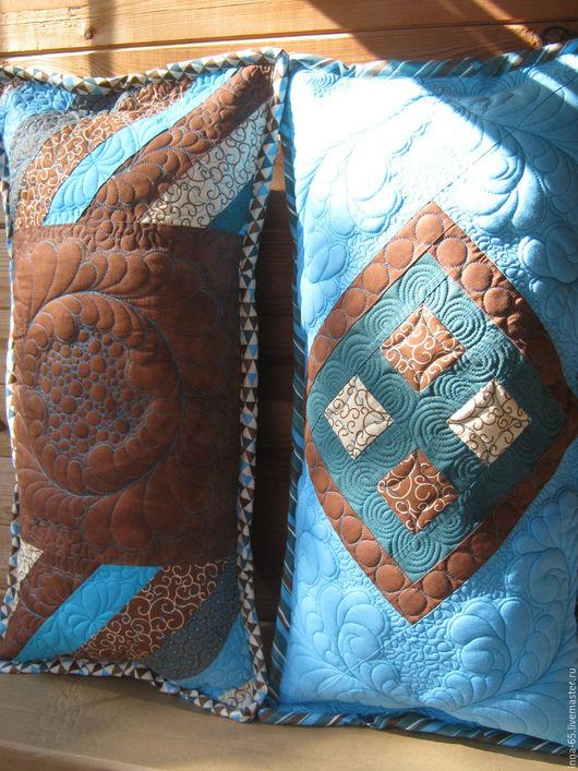 Текстиль, ковры ручной работы. Ярмарка Мастеров - ручная работа. Купить Подушка лоскутная стеганая декоративная. Handmade. Комбинированный, подушка