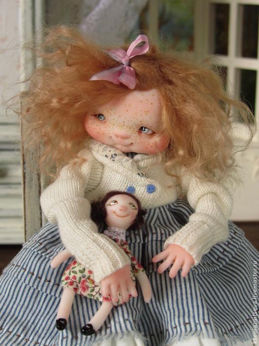 """Коллекционные куклы ручной работы. Ярмарка Мастеров - ручная работа. Купить """"Флори"""". Handmade. Коллекционная кукла, веснушки"""