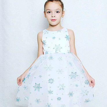 Одежда ручной работы. Ярмарка Мастеров - ручная работа Платье снежинка. Handmade.