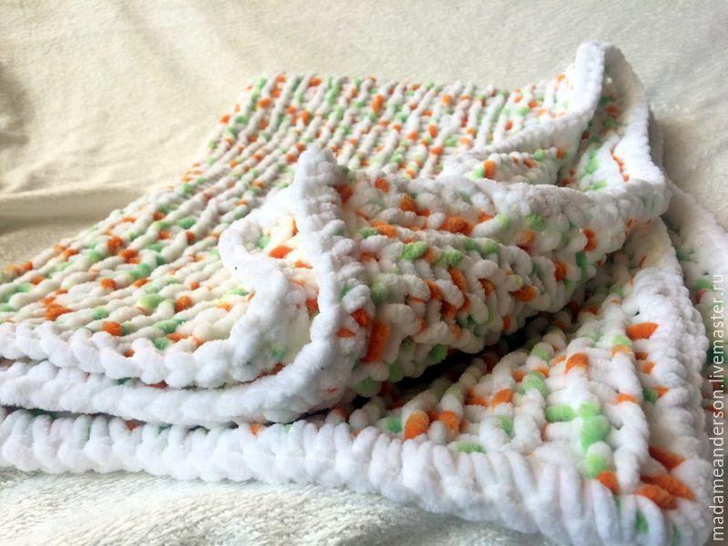 Вязанные детские одеяла и пледы для новорожденных