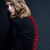 Платья ручной работы. Ярмарка Мастеров - ручная работа Черное платье с хребтом. Handmade.
